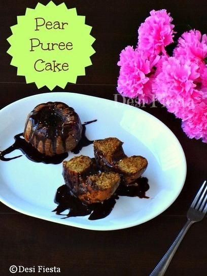 Desi Fiesta : Pear Puree Cake (Vegan version) | My Vegan recipes | Scoop.it