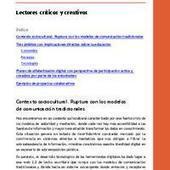 Lectores criticos y creativos | Educommunication | Scoop.it