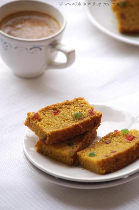 Eggless Mango Tutti Frutti Cake Recipe - Vegan Mango Wheat Cake Recipe - Eggless Cake Recipes | Indian Cuisine | Food for Foodies | Scoop.it