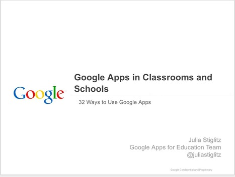 32 Ways to Use Google Apps in Your Classroom ~ Educational Technology and Mobile Learning | Web Site of the Week - 3.0 - SD#60 - PRN | Scoop.it