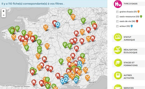 Les Oasis en France   Mouvement Colibris   Les cartes des Alternatives - Géographie de la transition   Scoop.it