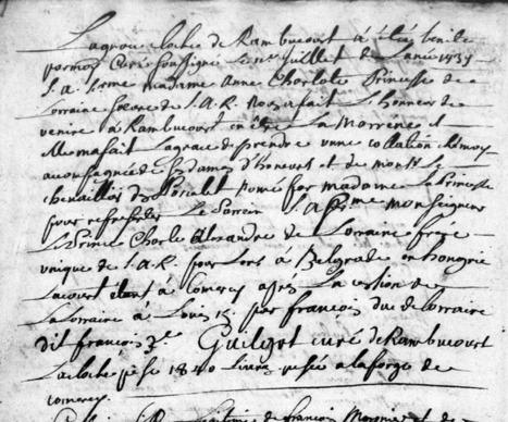MesRacinesFamiliales: L'histoire de la Lorraine en 1737 à travers la cloche de Rambucourt | GenealoNet | Scoop.it