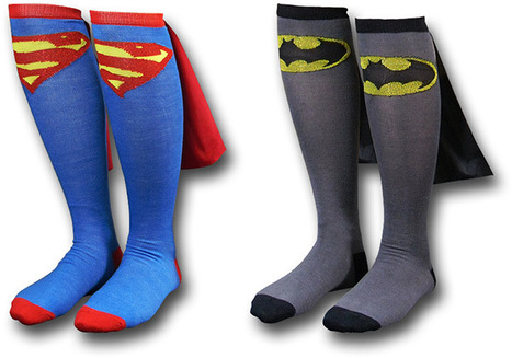 Des chaussettes de super héros | Le Journal du Geek | firefox-comicsandgeek | Scoop.it