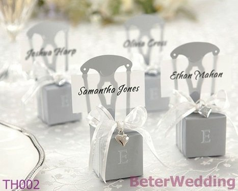 Miniature Silver Chair Favor Box w/ Heart Charm & Ribbon BETER-TH002/A    http://www.aliexpress.com/store/512567 #weddingfavorboxe #candybox #favorboxes #weddingdecoration | Wedding Gifts | Scoop.it