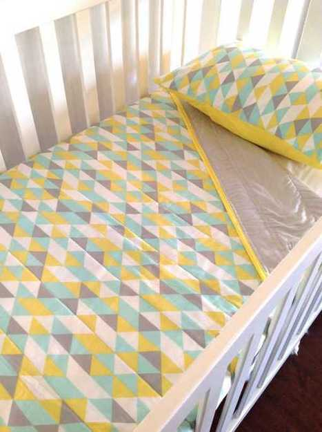 Cot linen goes geometric with Alphabet Monkey - Babyology | Linens | Scoop.it