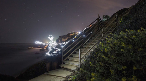 Light Goes On: A New Light Painting Stop Motion Video About a Skateboarding Skeleton by Darren Pearson | Culture and Fun - Art | Scoop.it