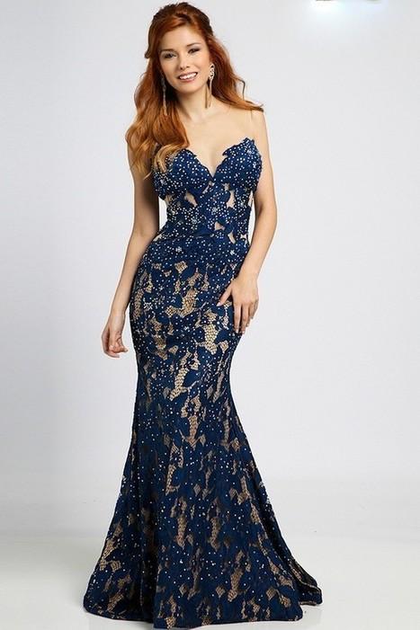 New Lace Zipper Royal Blue Nice Evening Dresses | Fashion Dresses | Scoop.it