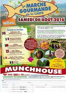 Réservez votre place : Marche gourmande du 6 aout 2016 - MUNCHHOUSE 68740 HAUT RHIN | 40 EME Fête de la Carpe Frites Munchhouse haut-rhin | Scoop.it