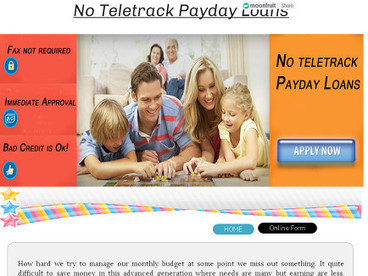 No Teletrack Payday Loans | Payday Loans | Scoop.it