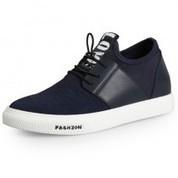 Lace up height increasing canvas casual shoes - MEN_00479_01 | dress elevator shoes for men get taller | Scoop.it