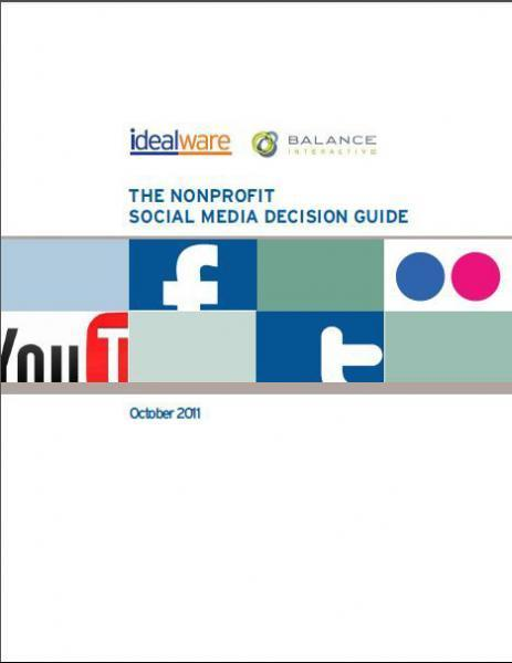 Idealware Nonprofit Social Media Decision Guide | Facebook best practices and research | Scoop.it