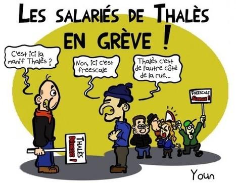 Dessin de la semaine : Thalès, Freescale, les ouvriers de Basso-Cambo manifestent | Toulouse La Ville Rose | Scoop.it