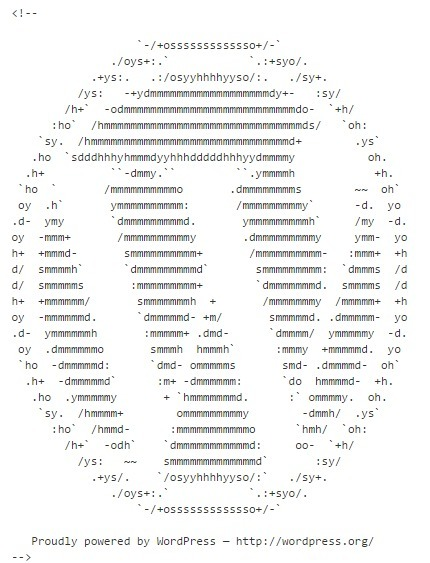 WordPress in ASCII art | ASCII Art | Scoop.it