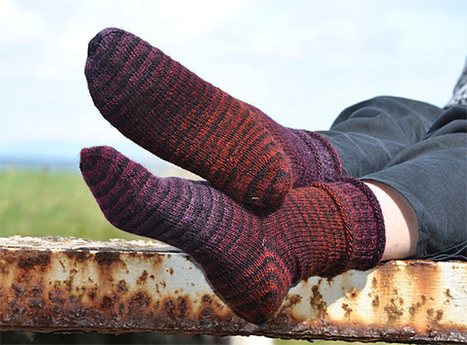 Red Rainbow Socks - Knitting Squirrel | Spinning, Weaving and Knitting | Scoop.it