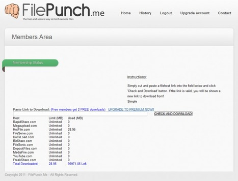 FilePunch – Tout télécharger à une vitesse fulgurante | SlyDnet | Time to Learn | Scoop.it