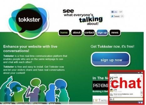 Tokkster. Ajoutez un tchat à votre site web. | Time to Learn | Scoop.it