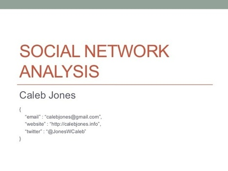 Intro to #SNA | Social Network Analysis #sna | Scoop.it