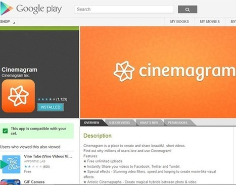 Cinemagram, o Instagram de vídeos, está disponível para Android - Lifestyle - Virgula | Articles and news about operating system Android | Scoop.it