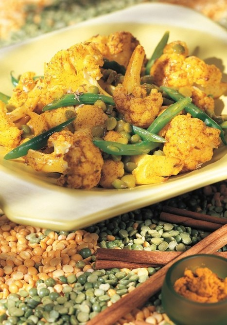 Vegetarian Vegan Herbal Recipes:  Golden Cauliflower with Split Peas | My Vegan recipes | Scoop.it