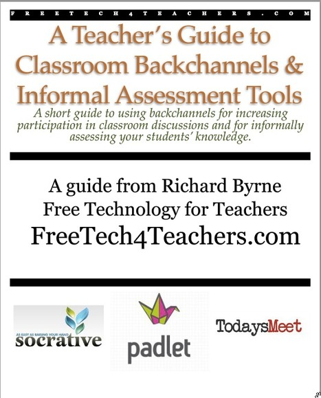 Updated - A Teacher's Guide to Classroom Backchannels & Informal Assessment ~ Free Technology for Teachers | EDUcational Chatter | Scoop.it