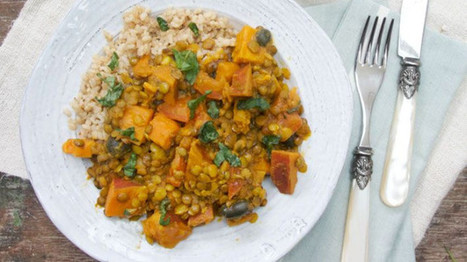 #MeatFreeMonday: Sweet potato, lentil and coconut curry | My Vegan recipes | Scoop.it