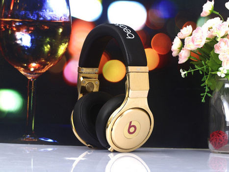 Eye-catching Monster Pro Beats 24K Gold Black Headphones_hellobeatsdreseller.com | Monster Beats Pro | Scoop.it