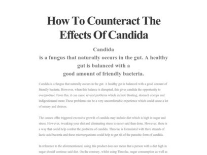 How To Counteract The Effects Of Candida | YOUR BODY DEPENDS ON GOOD DIGESTION | Scoop.it