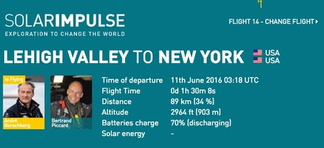 Solar Impulse 2 is flying from Lehigh Valley to New York | Aviation & Airliners | Scoop.it