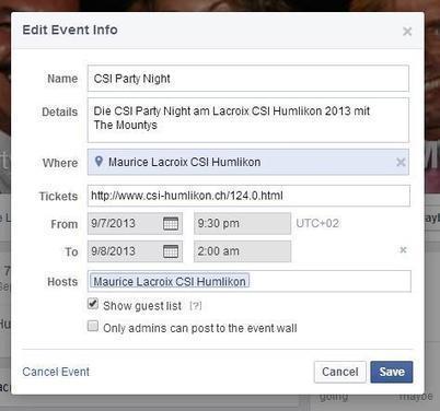 Facebook: Workaround – vergangene Events neu aufleben lassen   Facebook-Marketing   Scoop.it