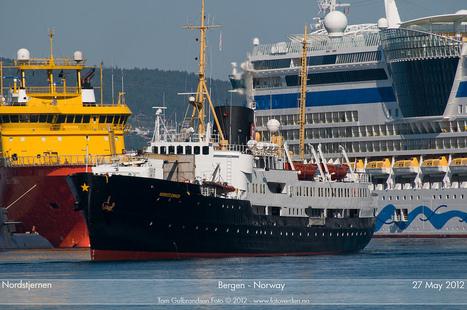 Hurtigruten : le MS Nordstjernen arrive à Bergen... | Arctique et Antarctique | Scoop.it