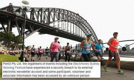 Hackers steal personal details of Sydney Running Festival participants | Privacy breach | Scoop.it