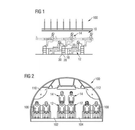 Airbus imagine un avion avec une rangée de siège en mezzanine   Durabilite-infos   Scoop.it