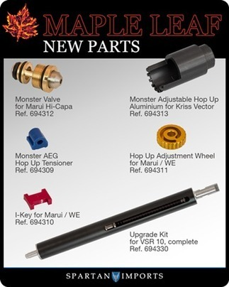 New Maple Leaf parts at Spartan Imports - Via ARNIE'S AIRSOFT NEWS!   This-day   Scoop.it
