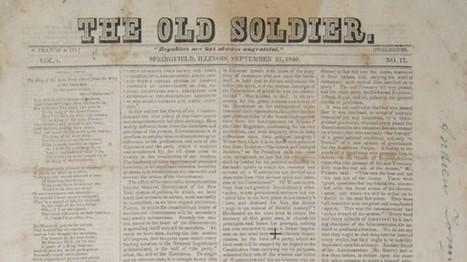 Le Musée Abraham Lincoln met en ligne la collection numérisée d'un journal de campagne édité par le 16ème Président Américain | Clic France | Scoop.it