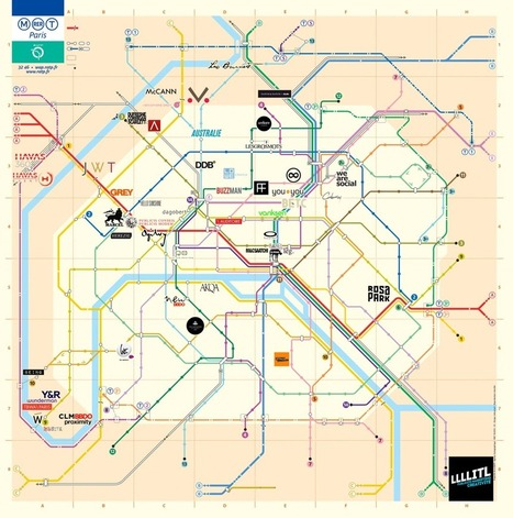 La carte de Paris des agences de publicité ! | LLLLITL | Le monde de la pub | Scoop.it