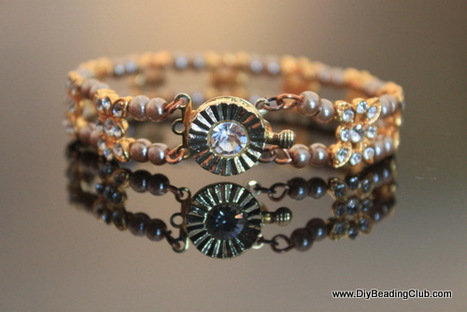 DIY Wire Jewelry: Sparkling Spacer Bar Bangle Tutorial | artisan jewelry | Scoop.it