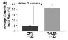 A large-scale in vivo analysis reveals that TALENs are significantly more mutagenic than ZFNs generated using context-dependent assembly - Nuc l. Acids Res. | BIOTECH | Scoop.it