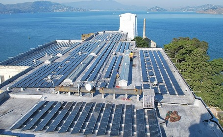 "Alcatraz Prison Goes Solar | L'impresa ""mobile"" 