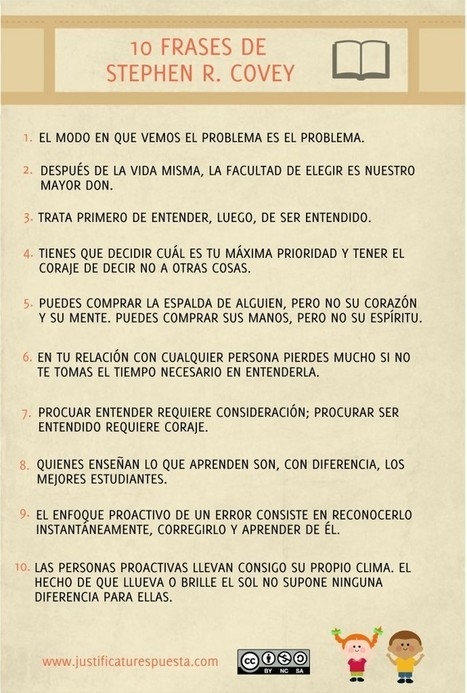 10 Frases de Stephen R. Covey para docentes altamente efectivos | Orientación educativa | Scoop.it