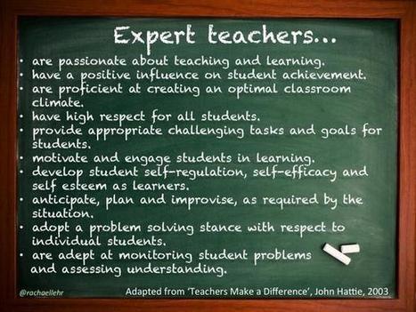 Geen experts nodig in onderwijs, maar expert leerkrachten | Master Onderwijskunde Leren & Innoveren | Scoop.it
