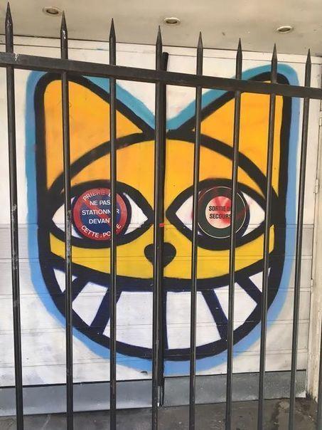 Trois mois de prison ferme requis contre l'artiste M.CHAT - La rue est une galerie | Le gratin de la bêtise | Scoop.it