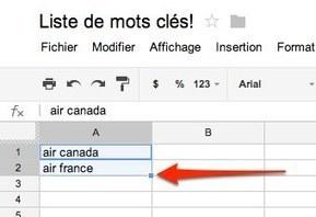 Utilisez Google Drive pour générer des listes de mots clés | Agence web Optavis | Scoop.it