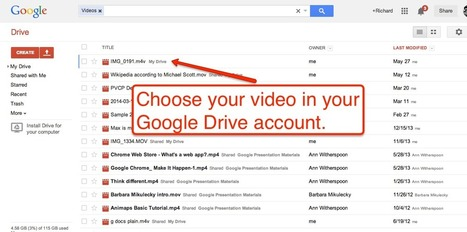 Use Google Drive to Share Videos Privately | TEFL & Ed Tech | Scoop.it