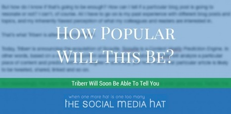 Triberr Seeks to Predict Social Signals On Your Content | The Content Marketing Hat | Scoop.it