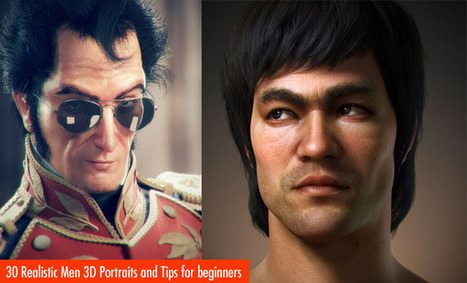 30 Realistic Men 3D Portraits and Tips for Making Realistic 3D Character Designs | Machinimania | Scoop.it