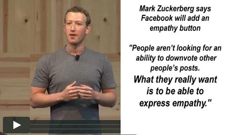 Mark Zuckerberg says Facebook will add an empathy button | Digital footprint | Scoop.it