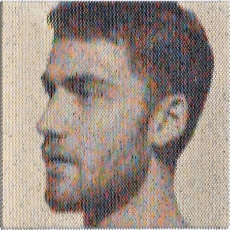 Awesome Pixelated Portraits Made with Thousands of Expertly Arranged Paint Swatches | Strange days indeed... | Scoop.it