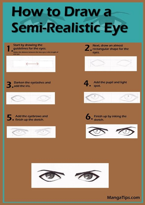 Semi-Realistic Manga Eye Tutorial | Drawing References and Resources | Scoop.it