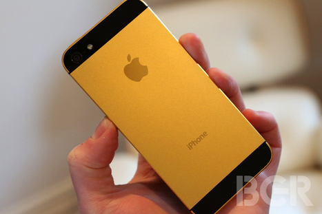 Apple to offer 'iPhone 5S' in new gold color and 128GB storage option | technology | Scoop.it