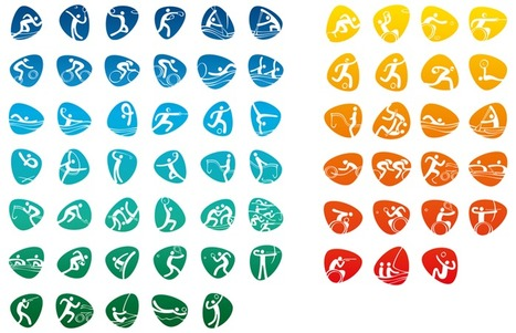 Rio 2016 launches Olympic and Paralympic pictograms | Creative Feeds | Scoop.it